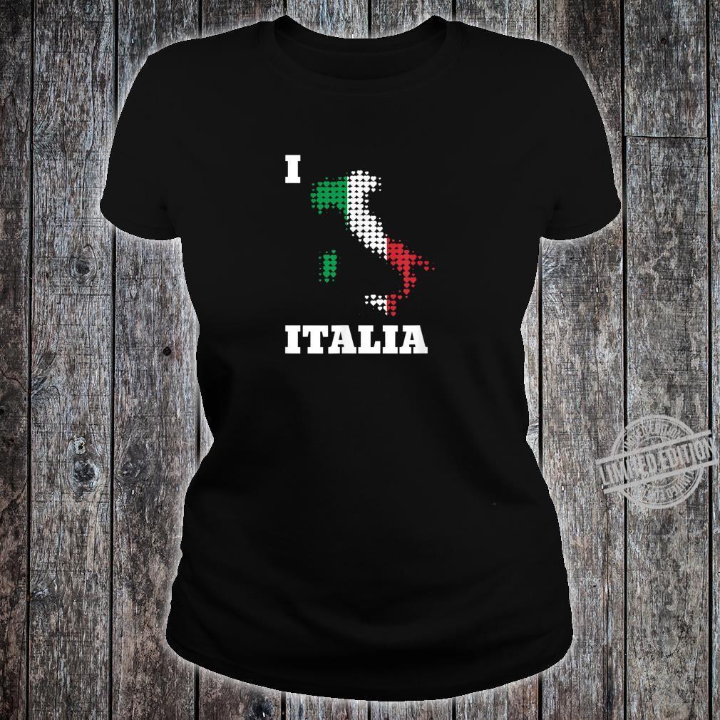 I love Italien Italia Karte aus Herzen in Nationalfarben Shirt ladies tee