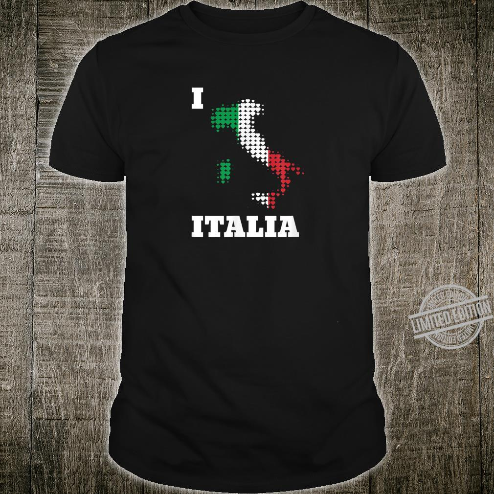 I love Italien Italia Karte aus Herzen in Nationalfarben Shirt