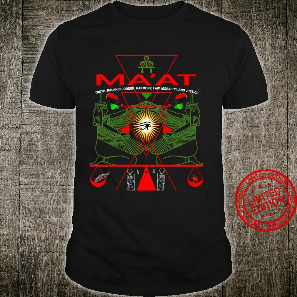 MA'AT MAAT Sacred Geometry Science Egyptian Shirt Art Langarmshirt Shirt