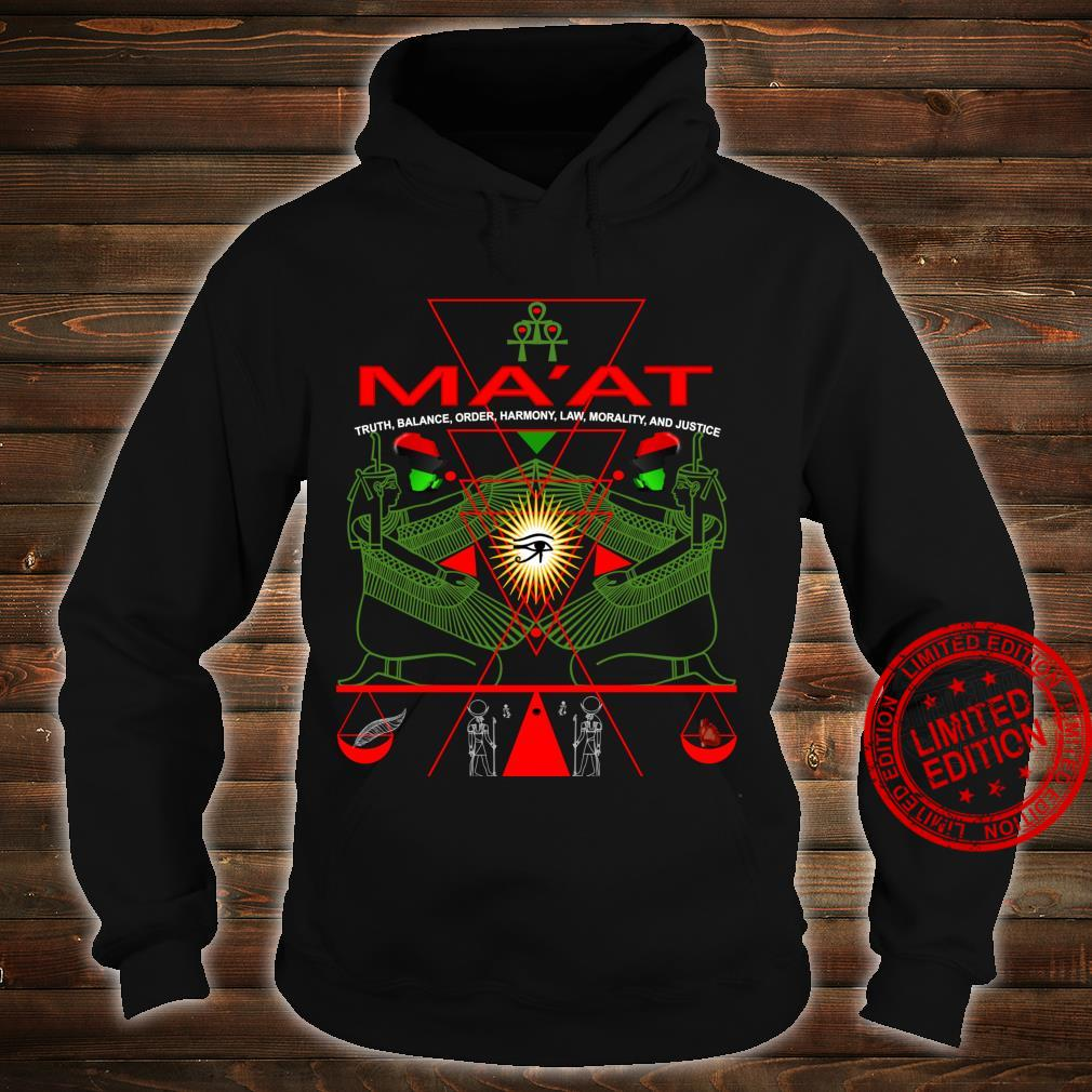 MA'AT MAAT Sacred Geometry Science Egyptian Shirt Art Langarmshirt Shirt hoodie