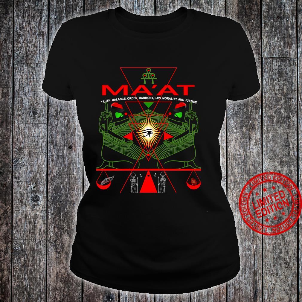 MA'AT MAAT Sacred Geometry Science Egyptian Shirt Art Langarmshirt Shirt ladies tee