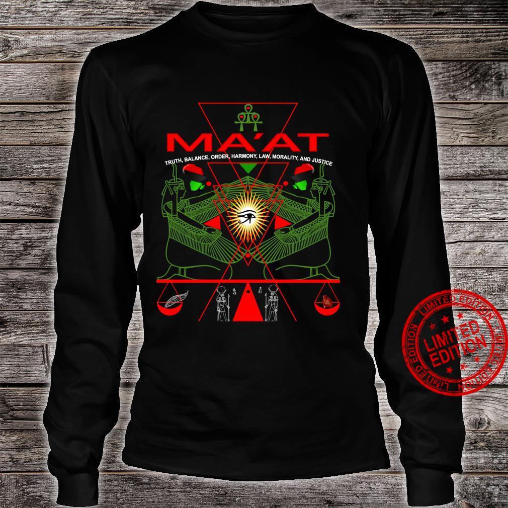 MA'AT MAAT Sacred Geometry Science Egyptian Shirt Art Langarmshirt Shirt long sleeved
