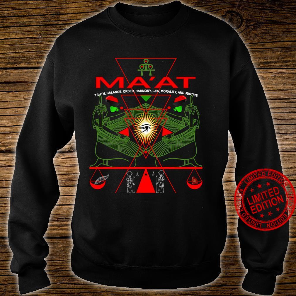 MA'AT MAAT Sacred Geometry Science Egyptian Shirt Art Langarmshirt Shirt sweater